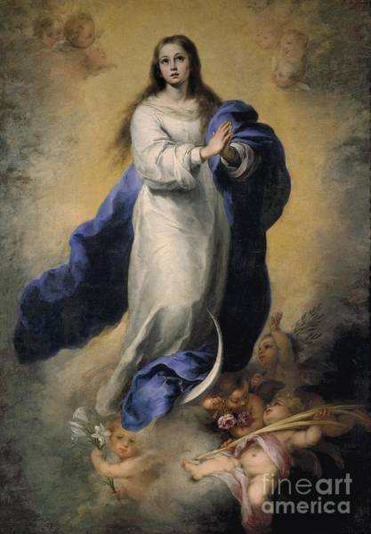 Circa Painting - Maria Immaculata by MotionAge Designs
