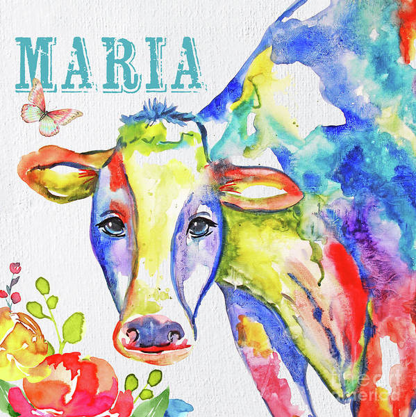 Wall Art - Painting - Maria Personalized Art by Jean Plout