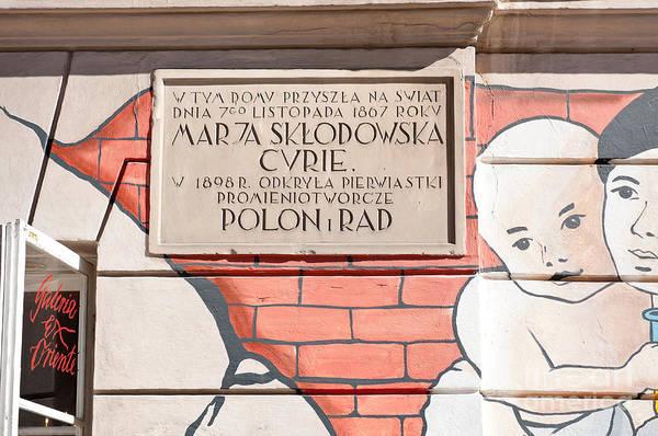 Wall Art - Photograph - Maria Sklodowska Curie Slab by Arletta Cwalina