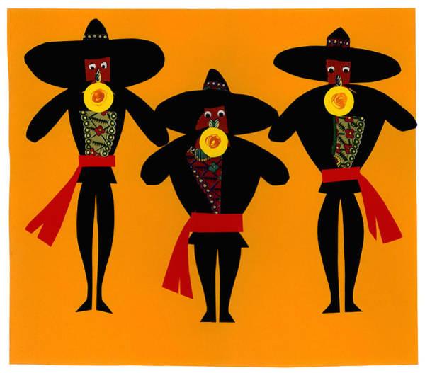 Folk Singer Mixed Media - Mariachi Band by BONB Creative