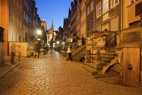 Tenement Photograph - Mariacka Street By Night In Gdansk by Artur Bogacki