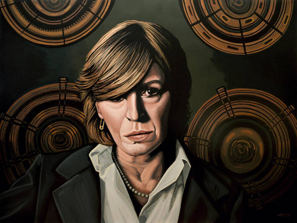 Finger Painting - Marianne Faithfull Painting by Paul Meijering