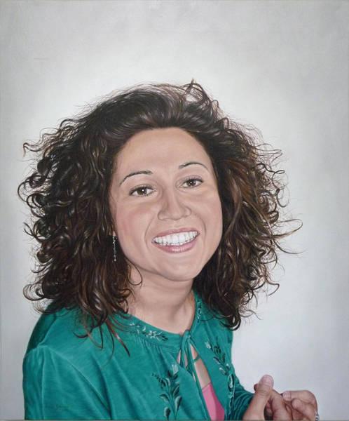 Sonrisa Wall Art - Painting - Maricruz by Jesus Sanchez