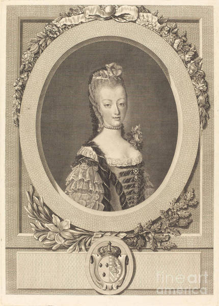 Wall Art - Drawing - Marie-antoinette Of France by Louis-jacques Cathelin After Jean-martial Fredou