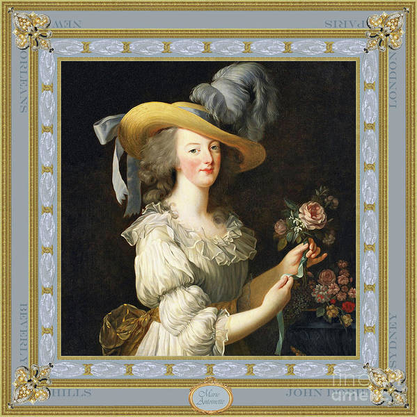 Baroque Mixed Media - Marie Antoinette, Queen Of Style by John Dobie
