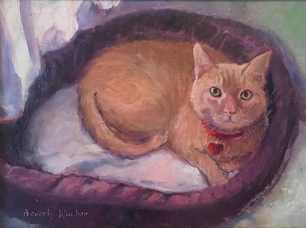 Curl Up Painting - Marie by Beverly Klucher