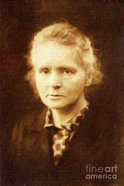 Poetry Painting - Marie Curie By Mary Bassett by Mary Bassett