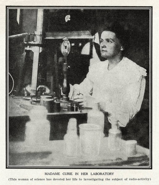 Wall Art - Photograph - Marie Curie, Polish-french Physicist by Humanities & Social Sciences Librarynew York Public Library