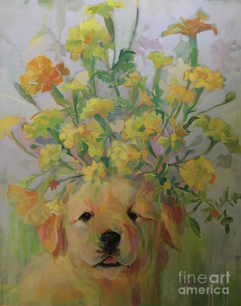 Wall Art - Painting - Marigold by Kimberly Santini