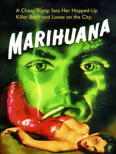 Dope Painting - Marihuana by Dominic Piperata
