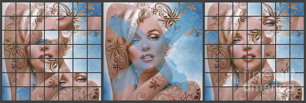Painting - Marilyn 127 Tryp by Theo Danella