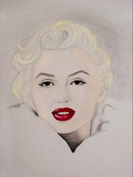 Amber Drawing - Marilyn by Amber Stanford