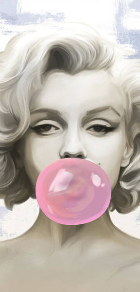 Legend Digital Art - Marilyn Bubbles by Canvas Cultures