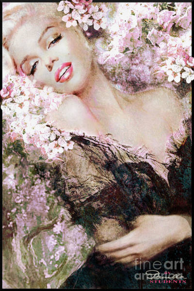 Painting - Marilyn Cherry Blossom B by Theo Danella