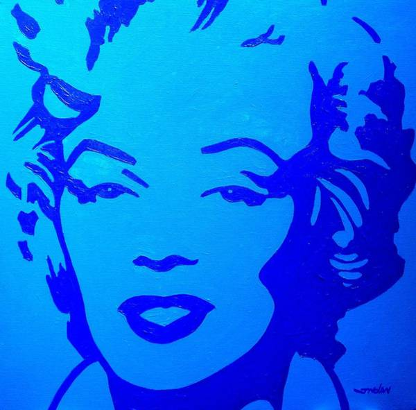 Warhol Painting - Marilyn by John  Nolan