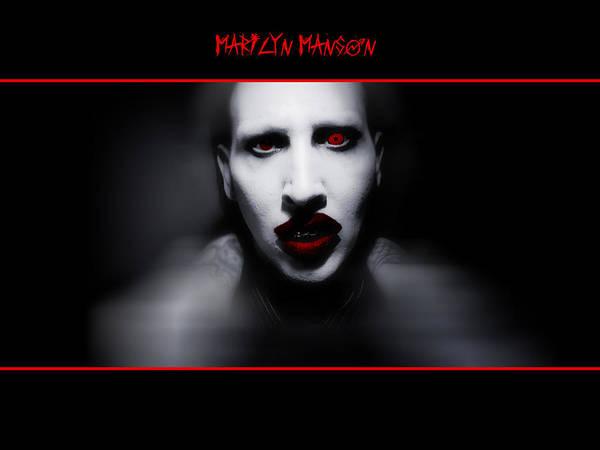 Digital Art - Marilyn Manson by Maye Loeser