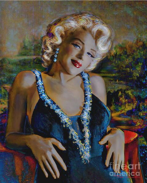 Marilyn Monroe 126 Monalisa Art Print