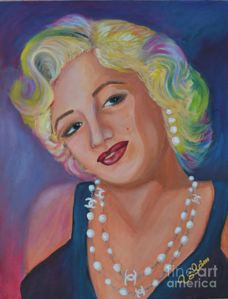 Child Actress Painting - Marilyn Monroe 3 by To-Tam Gerwe