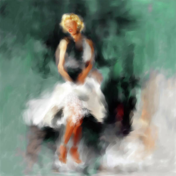 Wall Art - Painting - Marilyn Monroe 547 2 by Mawra Tahreem