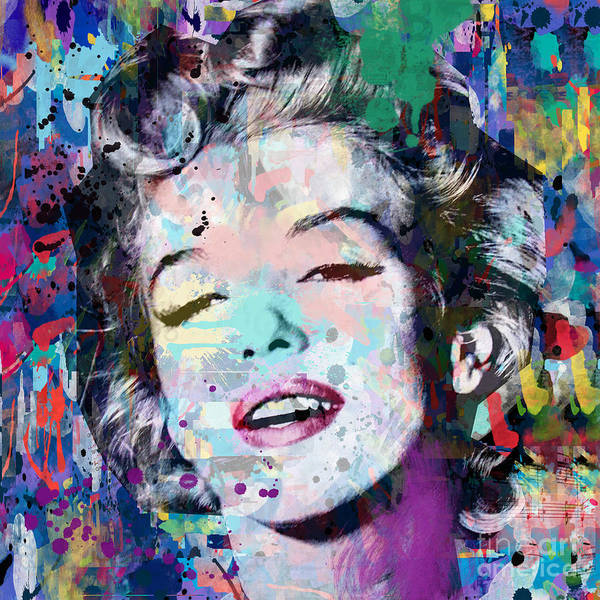 Dive Digital Art - Marilyn Monroe  9 by Mark Ashkenazi
