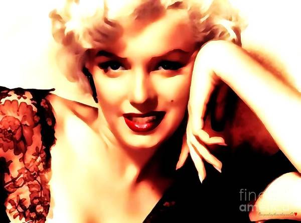 Painting - Marilyn Monroe A Hint Of Honey In Thick Paint  by Catherine Lott