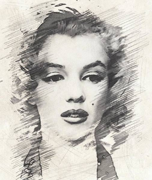 Marilyn Drawing - #marilyn Monroe, Actress And Model by John Springfield
