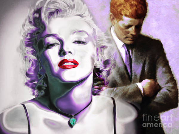 Photograph - Marilyn Monroe And John F Kennedy 20160106 Horizontal by Wingsdomain Art and Photography