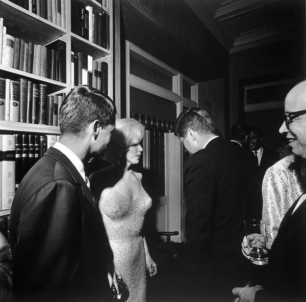 Wall Art - Photograph - Marilyn Monroe And Kennedy Brothers 1962 by Daniel Hagerman