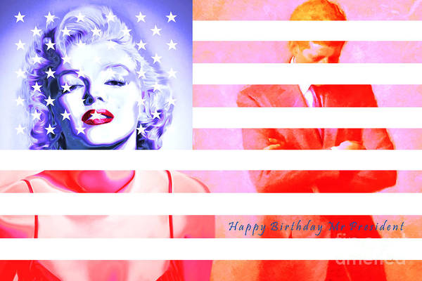 Photograph - Marilyn Monroe Happy Birthday Mr President 20160105 by Wingsdomain Art and Photography