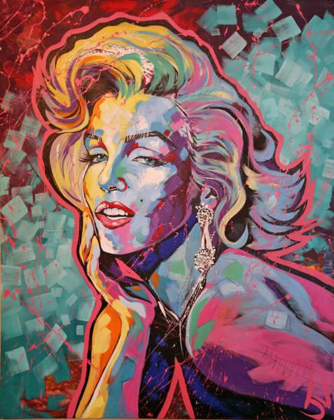 Norma Jeane Mortenson Painting - Marilyn Monroe by Jay V Art