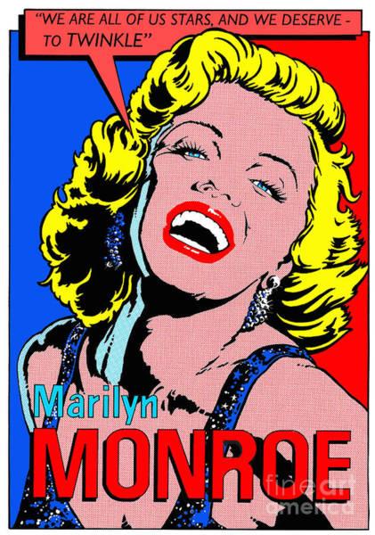Wall Art - Digital Art - Marilyn Monroe by MGL Meiklejohn Graphics Licensing