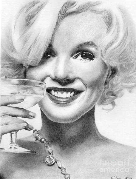 Marilyn Drawing - Marilyn Monroe by Karen Townsend