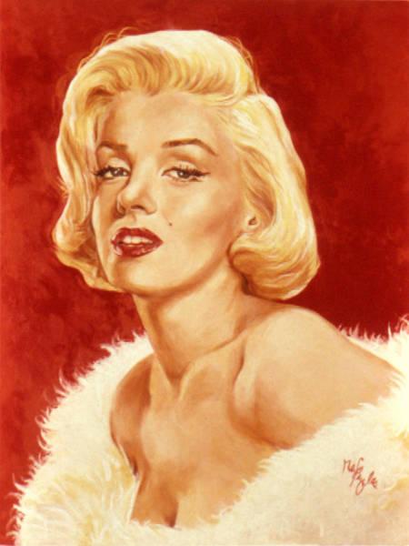 Boa Painting - Marilyn Monroe by Neil Feigeles