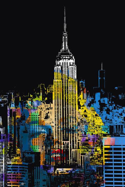 Manhattan Skyline Painting -  Marilyn Monroe New York City 1 by Tony Rubino