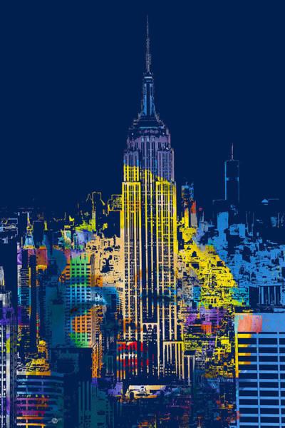 Manhattan Skyline Painting -  Marilyn Monroe New York City 2 by Tony Rubino