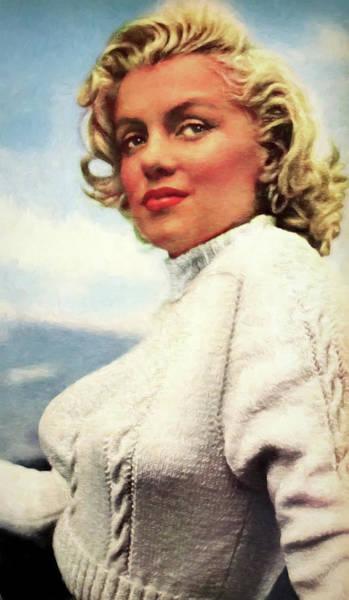 Wall Art - Mixed Media - Marilyn Monroe Painterly 1953 by Daniel Hagerman