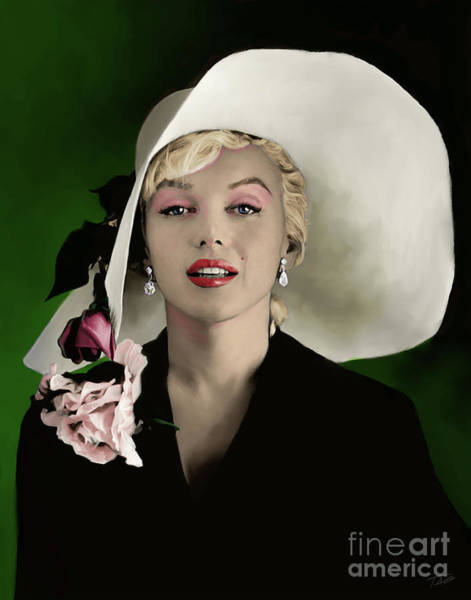 Shower Curtain Painting - Marilyn Monroe by Paul Tagliamonte