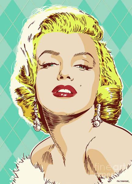 Wall Art - Digital Art - Marilyn Monroe Pop Art by Jim Zahniser