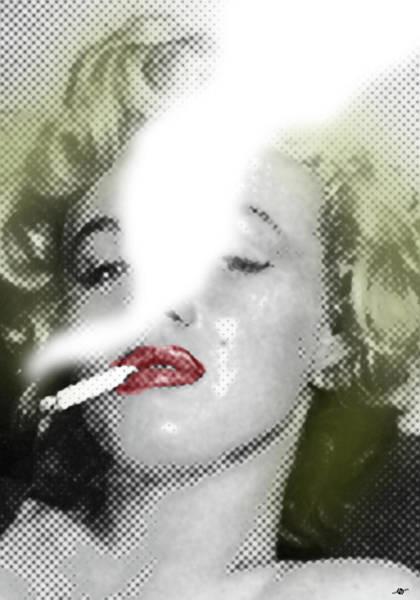 Painting - Marilyn Monroe Smokes 2 by Tony Rubino