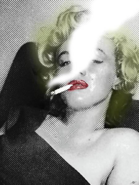 Painting - Marilyn Monroe Smokes by Tony Rubino