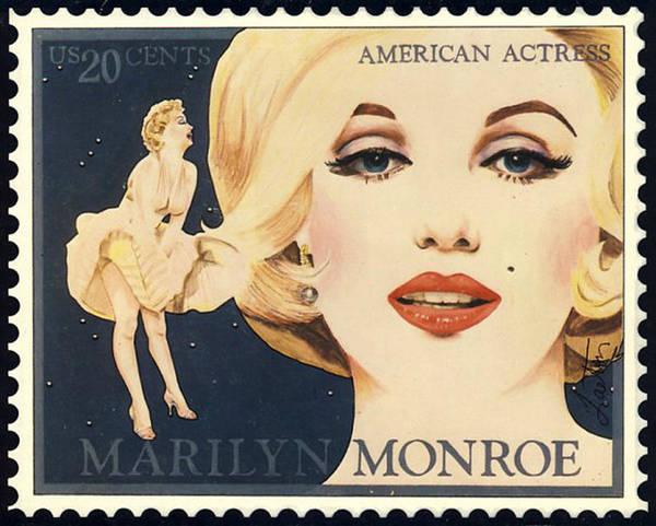 Marilyn Monroe Stamp Art Print