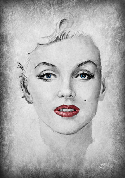 Nostalgia Drawing - Marilyn Movie Star Edit by Andrew Read