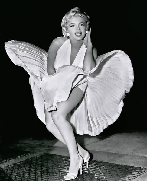 Wall Art - Photograph - Marilyn Over Subway Grate 1954 by Daniel Hagerman