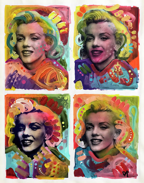 Painting - Marilyn Pop 4x by Dean Russo Art