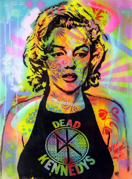 Punk Rock Wall Art - Painting - Marilyn Punk by Dean Russo Art