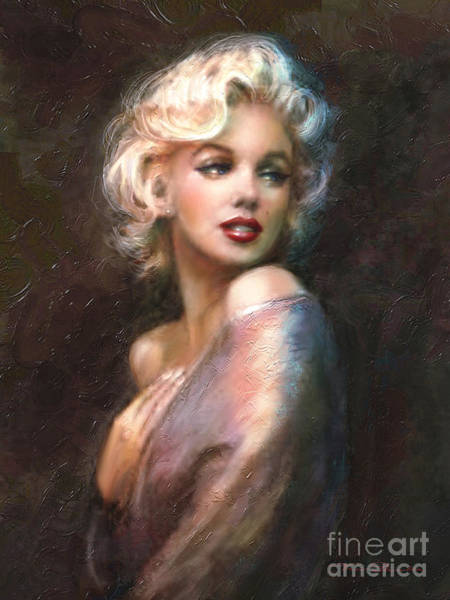 Classical Wall Art - Painting - Marilyn Romantic Ww 1 by Theo Danella