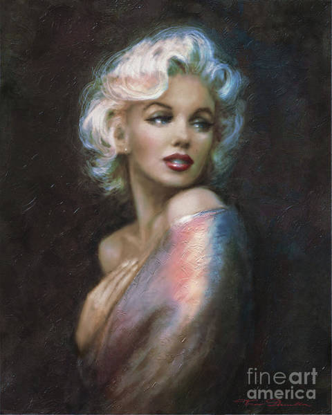 Painting - Marilyn Romantic Ww 4 Blue by Theo Danella
