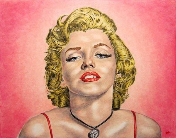Norma Jeane Mortenson Painting - Marilyn by Scott Larson