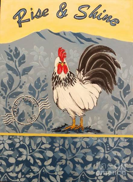 Holly Brannan Wall Art - Painting - Marin County Rooster by Holly Bartlett Brannan