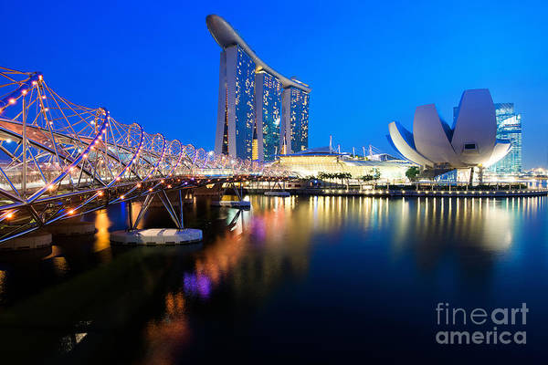 Photograph - Marina Bay Sand by Yew Kwang